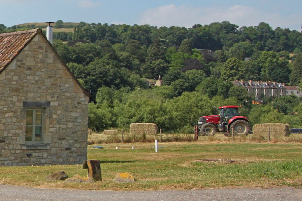 The story of New Leaf Farm self catering holiday cottages outside Bath in Bathampton, Avon.